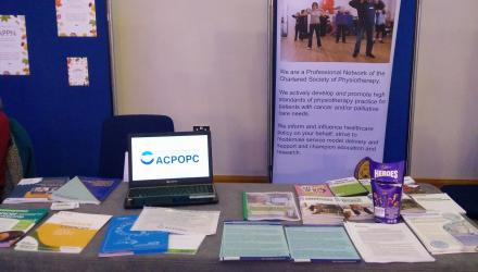 ACPOPC Stand at Physiotherapy UK Conference